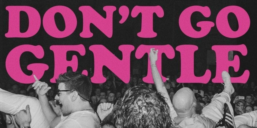 Dont go gentle poster of the idles crowd
