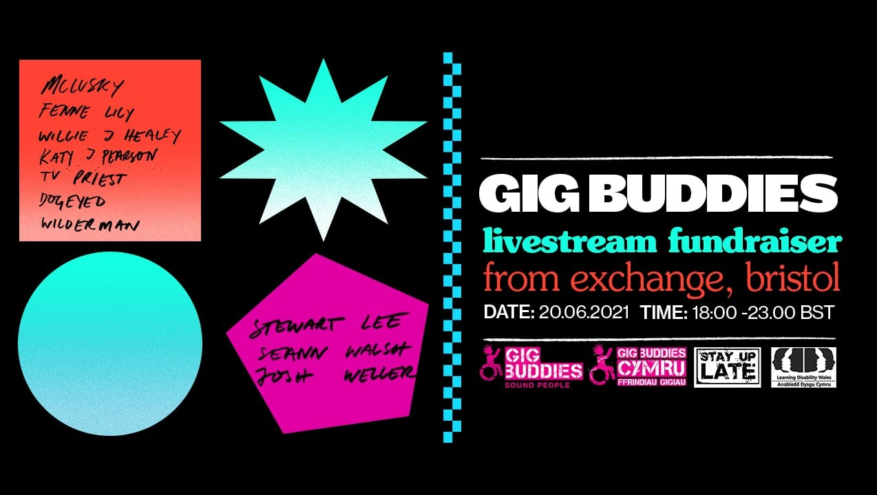 gig buddies fundraiser banner